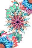Fond décoré de fleur Images libres de droits
