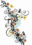 Fond décoratif illustration de vecteur