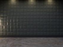 Fond décoratif abstrait du mur 3d, rendu 3d Photographie stock