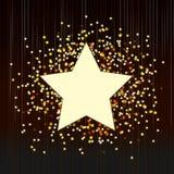 Fond décoratif avec des confettis des étoiles Photographie stock