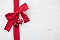Fond décoratif avec des ornements de Noël Photos stock