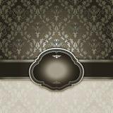 Fond décoratif avec le cadre et les modèles de vintage Image stock