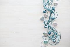 Fond décoratif avec les coeurs et le chris Photos stock