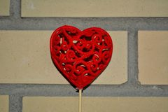 Fond décoratif de coeur rouge Image libre de droits