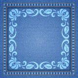 Fond décoratif de denim Image libre de droits