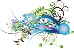 Fond décoratif de fleurs Images libres de droits