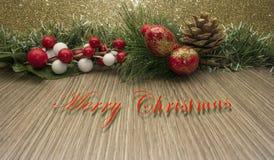 Fond décoratif de Joyeux Noël Photo libre de droits