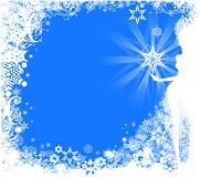 Fond décoratif de l'hiver Illustration Libre de Droits