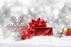 Fond décoratif de Noël Photos libres de droits