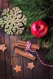 Fond décoratif de Noël Photo libre de droits