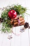 Fond décoratif de Noël Photographie stock