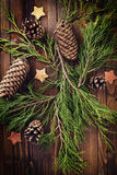 Fond décoratif de Noël Photos stock