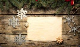 Fond décoratif de Noël Images libres de droits