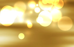 Fond décoratif de Noël avec des lumières de bokeh Images stock