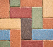Fond coloré décoratif de brique Photographie stock