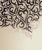 Fond décoratif de vecteur Image stock