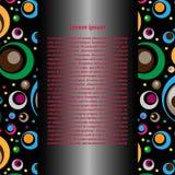 Fond décoratif de vecteur des cercles Photo libre de droits