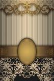 Fond décoratif de vintage avec des modèles d'or Photos libres de droits