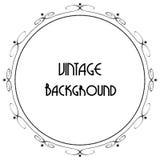 Fond décoratif de vintage, cadre antique de vecteur Photographie stock libre de droits