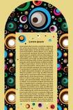 Fond décoratif de voûte de vecteur Photo stock