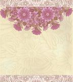 Fond décoratif floral de cru Images stock