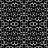 Fond décoratif noir et blanc sans couture avec des cercles Photos stock