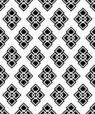 Fond décoratif noir et blanc sans couture avec des formes géométriques Photographie stock