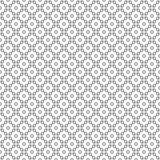 Fond décoratif noir et blanc sans couture avec des formes géométriques Image libre de droits