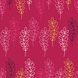Fond décoratif sans couture avec des branches et des feuilles Photographie stock