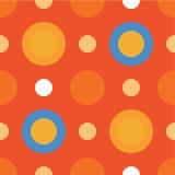 Fond décoratif sans couture avec des cercles, des boutons et des points de polka Photo libre de droits