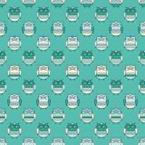 Fond décoratif sans couture avec des hiboux Image stock