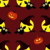 Fond décoratif sans couture Halloween heureux Images stock