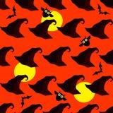 Fond décoratif sans couture Halloween heureux Images libres de droits