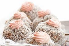 Fond délicieux de gâteaux de noix de coco Images stock