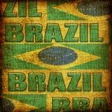 Fond démodé du Brésil Image libre de droits