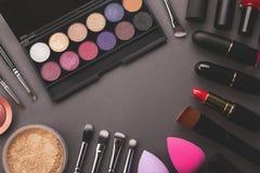 Fond déprimé de maquillage image stock