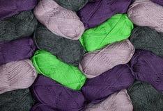 Fond d'écheveau de laines Image stock