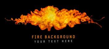 Fond d'éclaboussure du feu Photo libre de droits