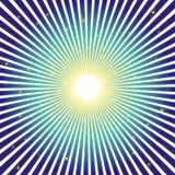 Fond d'éclat de bleu avec des étoiles illustration libre de droits