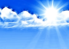 Fond d'éclat de Sun Images libres de droits
