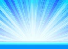 Fond d'éclat pour la présentation avec la couleur bleue Images stock