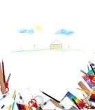 Fond d'école Images libres de droits