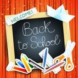 Fond d'école avec le tableau noir Photo libre de droits