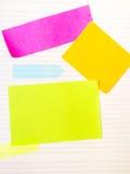 Fond d'école avec les notes collantes colorées Photo stock