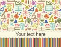 Fond d'écoliers avec l'endroit pour le texte Photo libre de droits