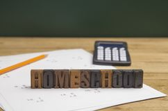 Fond d'éducation de Homeschool Images stock