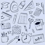 Fond d'éléments d'école Photos libres de droits