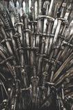 Fond d'épées de chevalier en métal Photo libre de droits