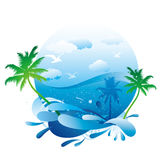 Fond d'été Photos stock