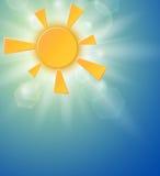 Fond d'été avec un soleil Photos libres de droits